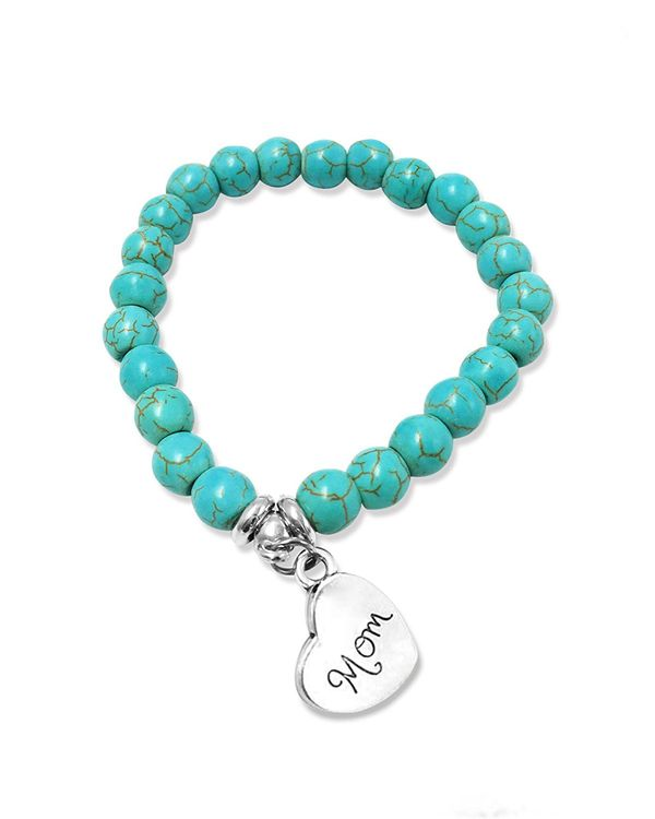 Suyi Personalized Turquoise Beads Bracelet