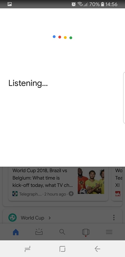 how to get ok google on samsung