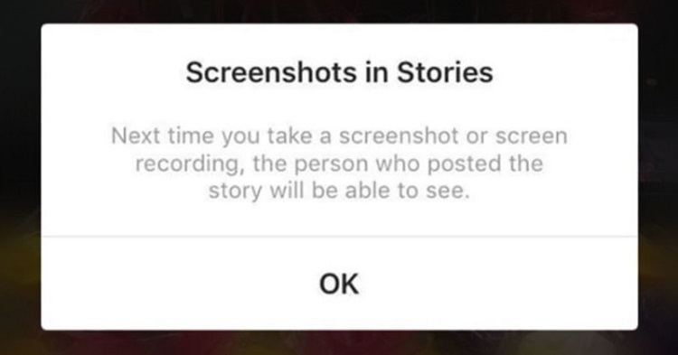 Can someone see when you screenshot their instagram story