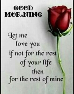 Tender good mornind message for her
