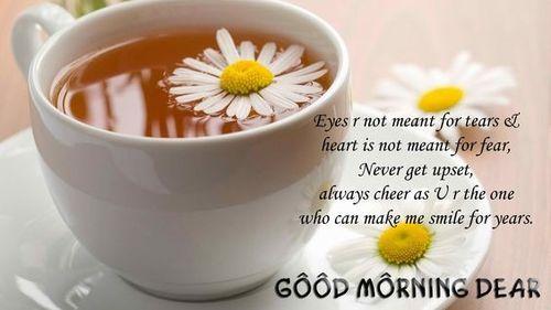 Доброе утро с чашкой ромашкового чая