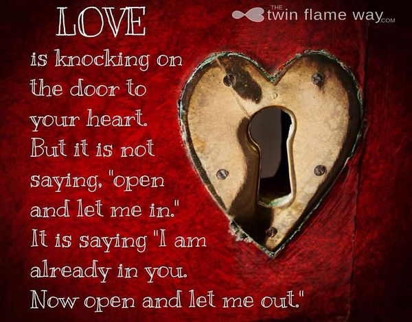 Love knocks at the door of your heart ...