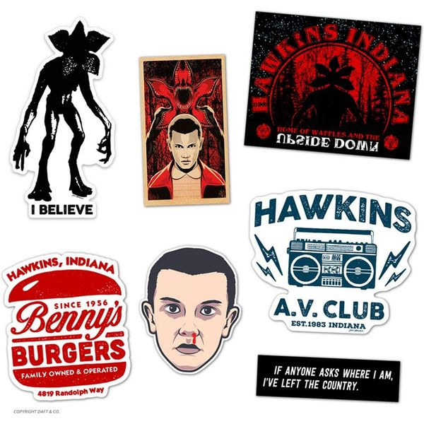 DAFT Stranger and Things Ultimate Gift Sticker Pack 6 Stickers