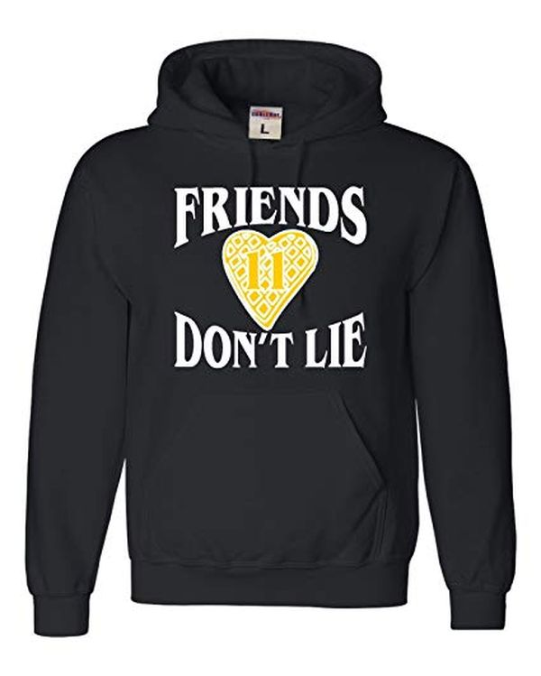 Go All Out Adult Friends Dont Lie Waffle Hoodie