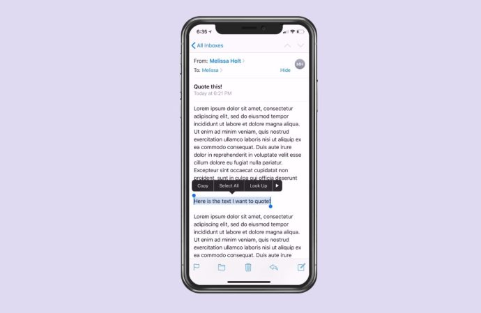 Dragging to Select Text on iPhone