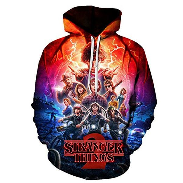 Stranger Things Hoodie with 3D Print