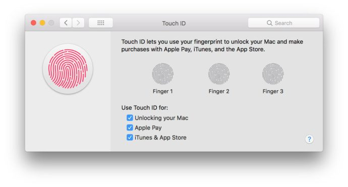 add fingerprint mac