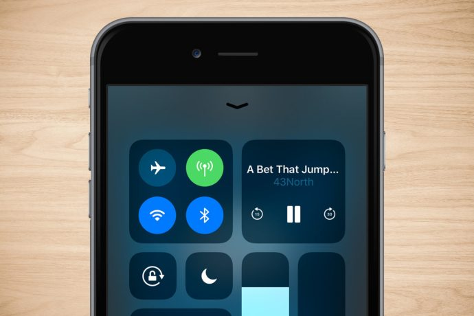 iphone control center playback
