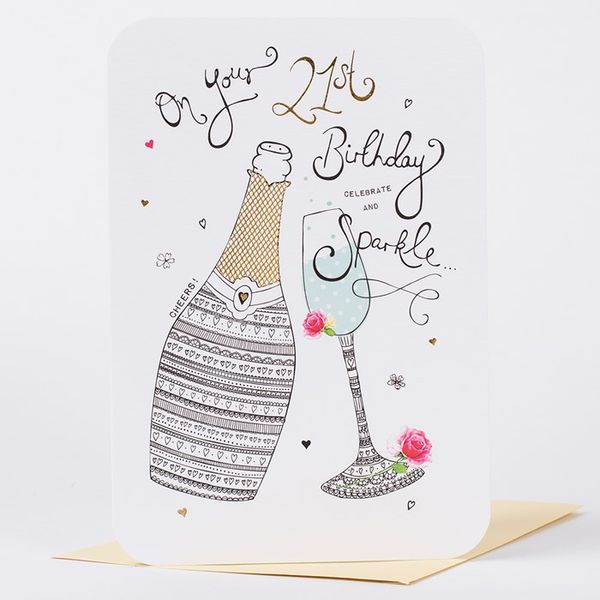 Amazing card images for the 21st birthday