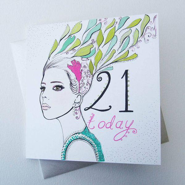 21st Birthday Cards in RefinedImages