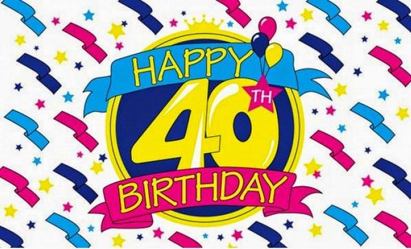Zingy 40th Birthday Images Graphics Free