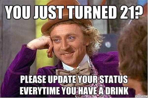 Fresh Turning 21 Meme
