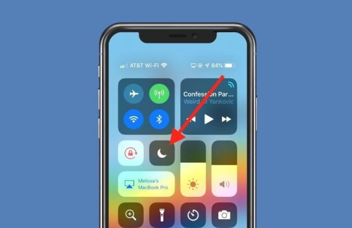 Do Not Disturb Toggle in Control Center Off