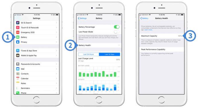 ios 12 iphone battery health