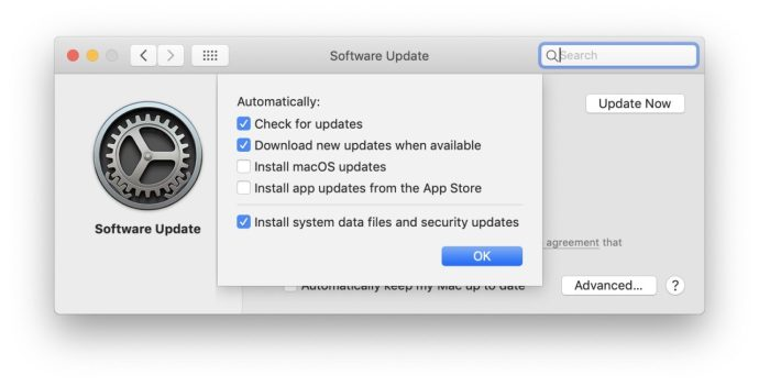 macos mojave software update options