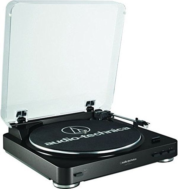 Audio Technica ATLP60BK Fully Automatic BeltDrive Stereo Turntable