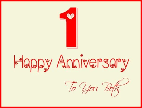 Nice Happy Anniversary to You Both Pics 1