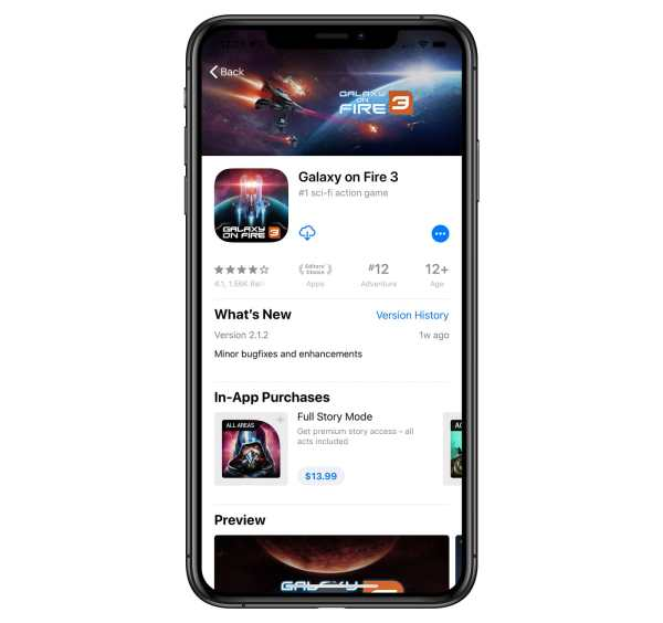 galaxy on fire app store in-app purchase