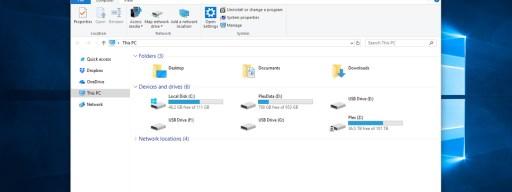 hide empty drives file explorer windows