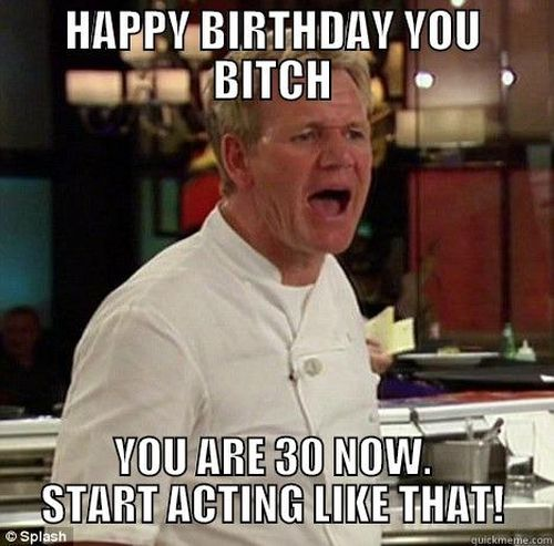 Refreshing Happy 30th Birthday Meme