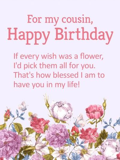 Happy Birthday Cousin Quotes and Images