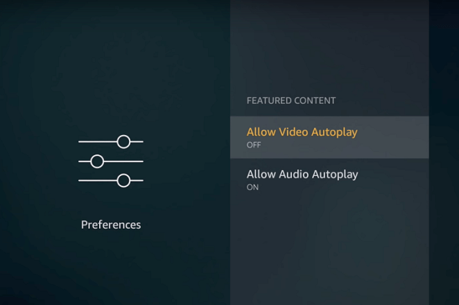 6 - Disable 'Auto play' on Featured content