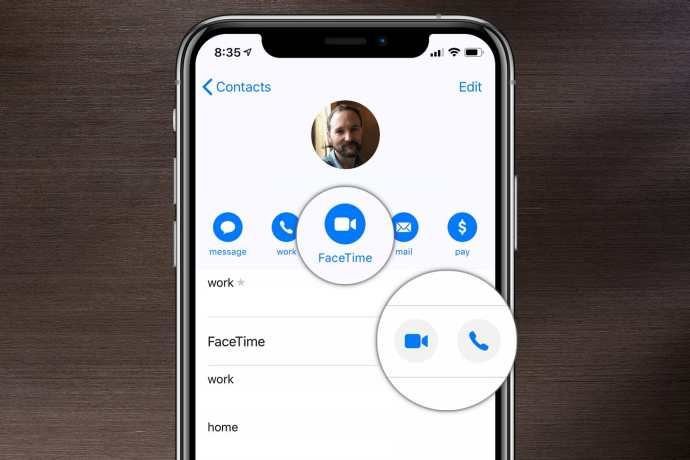 iphone Facetime контакт
