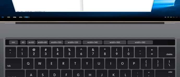 parallels custom touchbar width