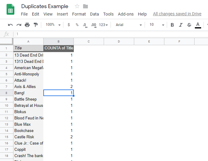 How To Highlight Duplicates in Google Sheets