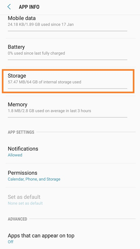 Galaxy Note 8 Clear Cache