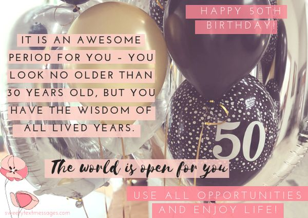 Quote to wish your mom happy 50th birthday