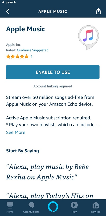 Apple Music and Amazon Echo