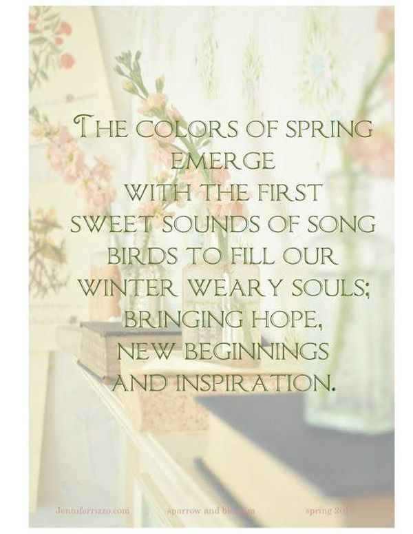 Words about Spring Time
