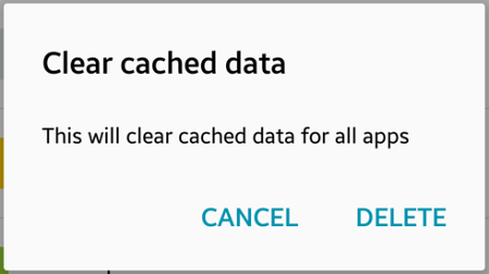 Galaxy S6 Clear Chrome Cache