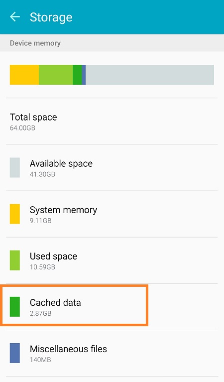 Galaxy S6 Clear Chrome and App Cache