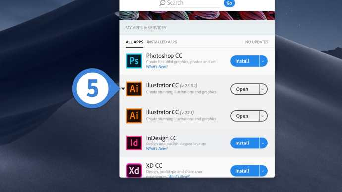 keep old creative cloud apps