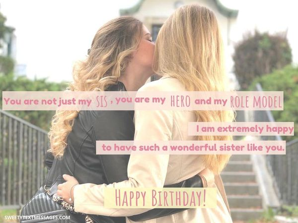 Cool happy birthday sis quote