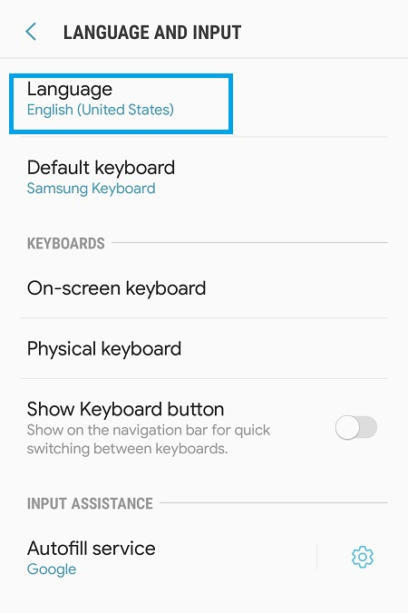Samsung Galaxy J7 Pro How to Change Language