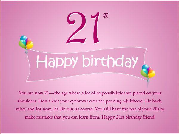 Поздравляем с 21 днем рождения открытки