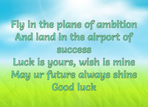 Good Luck Poem with Positive Quotes