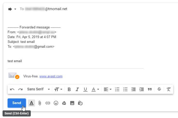 Send an SMS message