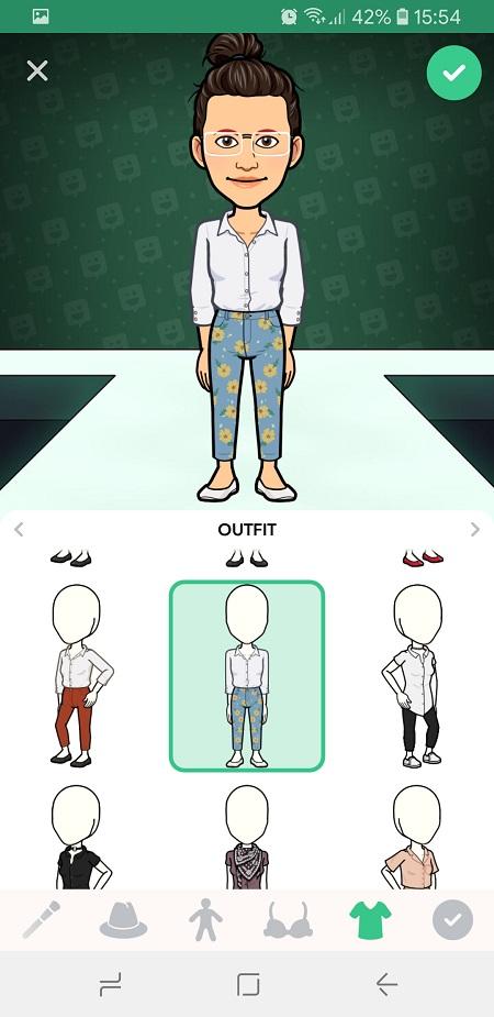 How to change your Bitmoji avatar