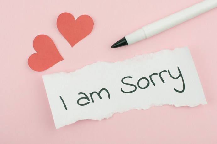 I Am Sorry Send Over Text