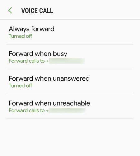 Android llamada frowarding