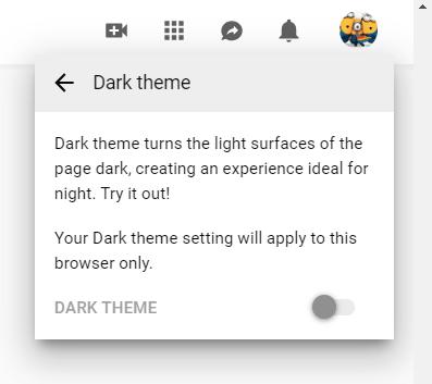 YouTube Dark Mode on PC