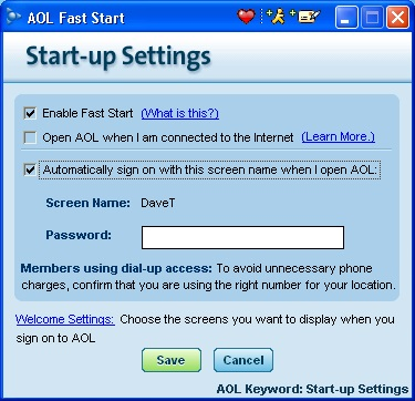 aol automatic sign in