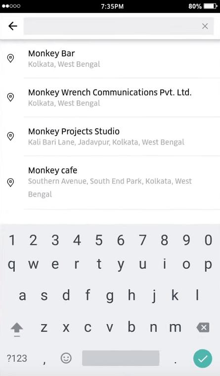 cambiar ubicación de uber