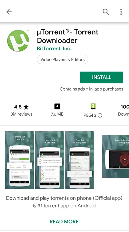 download torrents directly on to android