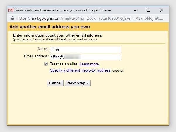 forward domain email to gmail