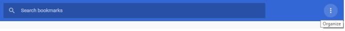 google chrome organize